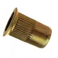 Заклепка-гайка цилиндрическая с потайным бортиком