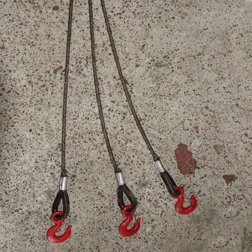 Канатный трехветвевой строп
